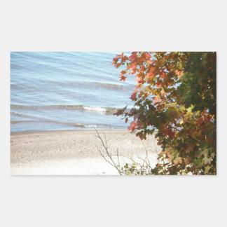 Lake Superior Autumn Rectangular Sticker