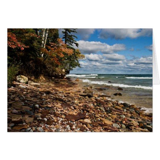 Lake Superior Beach Greeting Card