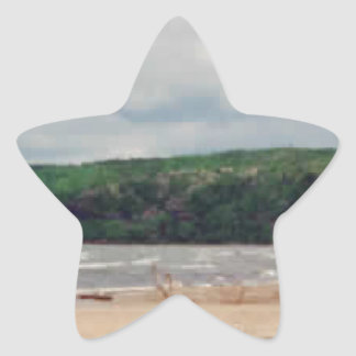 Lake Superior Beach Star Sticker