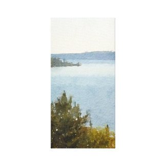 Lake Superior Beautiful Abstract Watercolor Canvas Print
