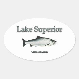 Lake Superior Chinook (King) Salmon Oval Sticker