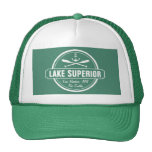 Lake Superior, custom town, name, anchor, paddles Cap