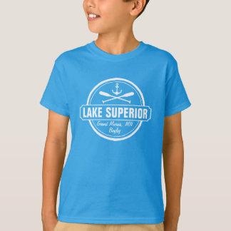 Lake Superior, custom town, name, anchor, paddles T-Shirt