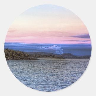 Lake Superior Evening Round Sticker