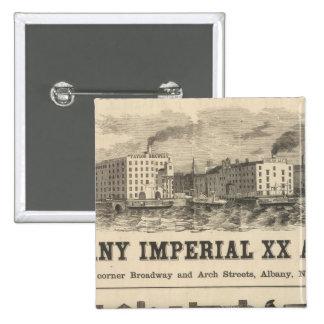 Lake Superior Iowa and Minnesota Advertisement 15 Cm Square Badge
