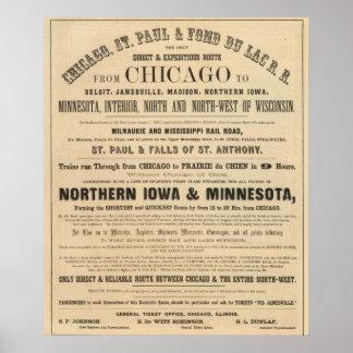 Lake Superior Iowa and Minnesota Advertisement Poster