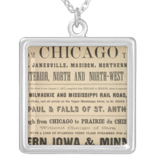 Lake Superior Iowa and Minnesota Advertisement Silver Plated Necklace