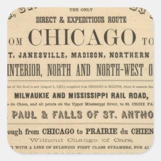 Lake Superior Iowa and Minnesota Advertisement Square Sticker