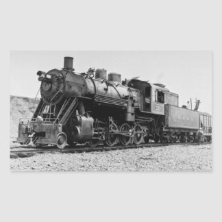 Lake Superior & Ishpeming Railroad Engine  #20 Rectangular Sticker