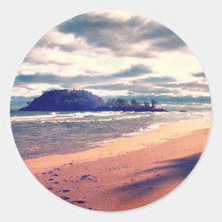 Lake Superior Island Round Sticker
