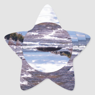 Lake Superior Island Waves Stickers