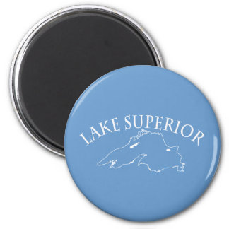 Lake Superior Map 6 Cm Round Magnet