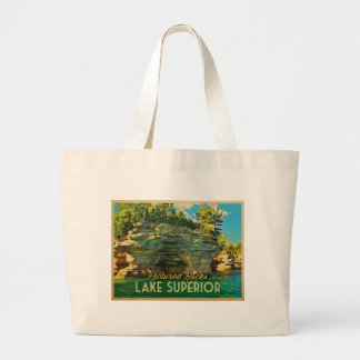 Lake Superior Pictured Rocks Tote Bags