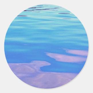 Lake Superior Reflection Round Sticker