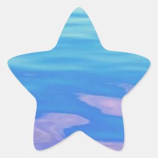 Lake Superior Reflection Star Sticker