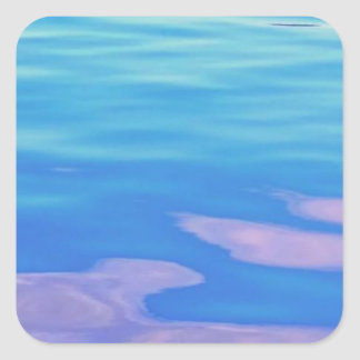 Lake Superior Reflection Square Stickers