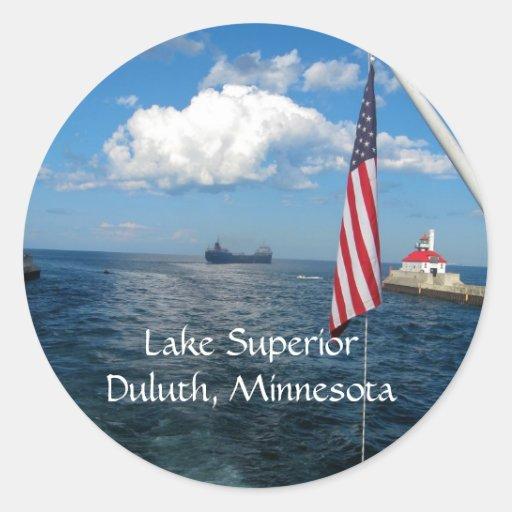 Lake Superior ROCKS! Round Stickers