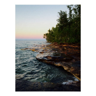 Lake Superior Shore Poster