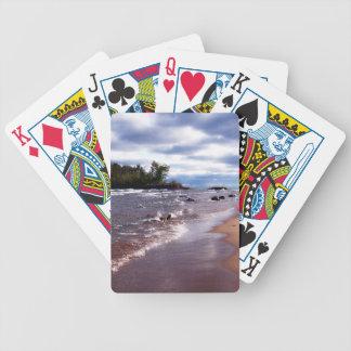 Lake Superior Shoreline Bicycle Playing Cards