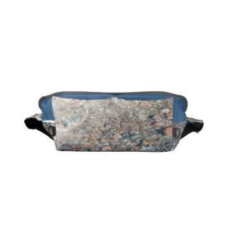 Lake Superior Stones Aqua & Grey Messenger Bag