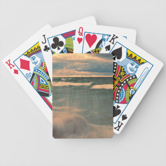Lake Superior - Stormy Sunset Bicycle Playing Cards