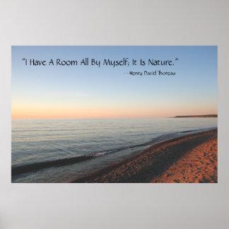 Lake Superior Sunset Thoreau Poster