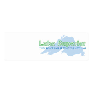 Lake Superior They don t call it that for nothing Business Card