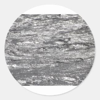 lake superior waves round sticker