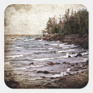 Lake Superior Waves Square Sticker