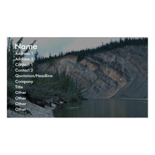 Lake Surfing in Alaska - Hanging Ten Business Card Template