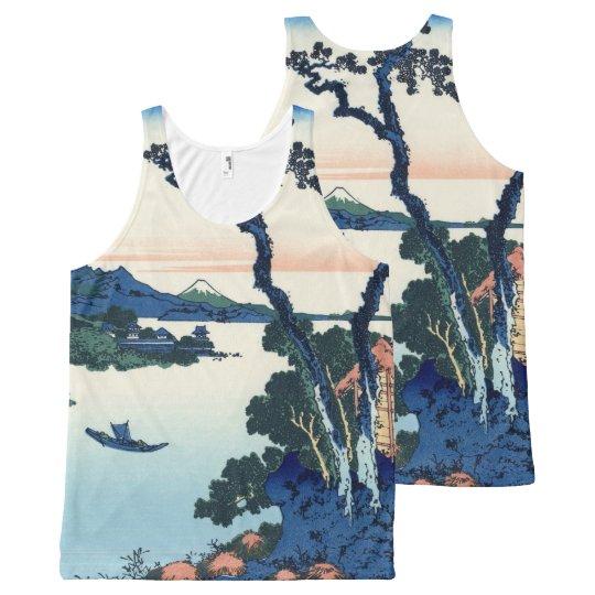 Lake Suwa by Hokusai All-Over Print Tank Top