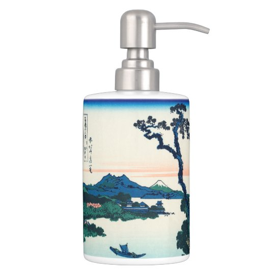 Lake Suwa in Shinano Province Bathroom Set
