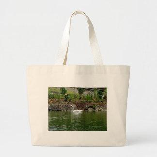 Lake Swan Canvas Bags