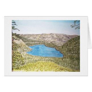 lake tahoe area. donner lake greeting card