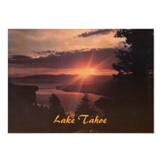 "Lake Tahoe at Sunrise Party Invitation 5"" X 7"" Invitation Card"