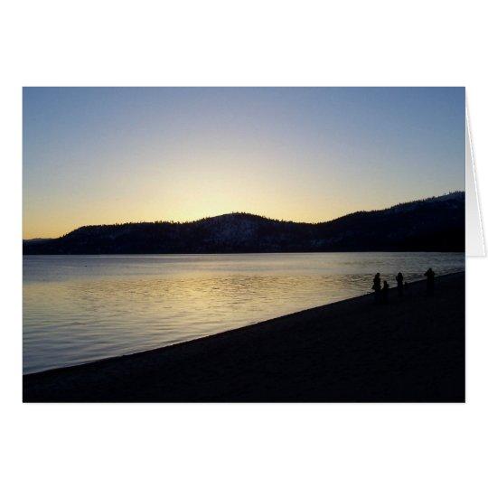 Lake Tahoe at Sunset Card