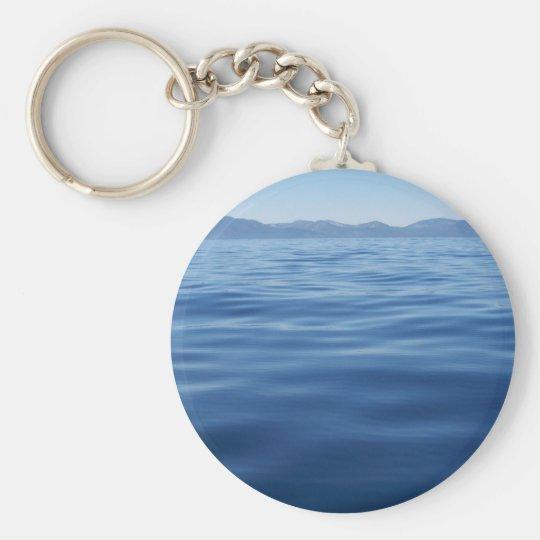 Lake Tahoe Basic Round Button Key Ring