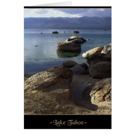 Lake Tahoe Blank Note or Greeting Card