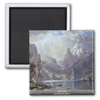 Lake Tahoe By Bierstadt Albert Square Magnet