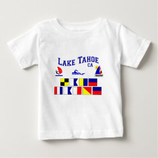 Lake Tahoe CA Signal Flags Baby T-Shirt