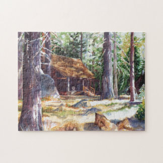 Lake Tahoe Cabin 11x14 Photo Puzzle with Gift Box