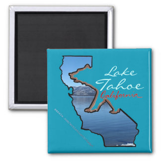 Lake Tahoe California blue bear outline magnet