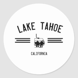 Lake Tahoe California Classic Round Sticker
