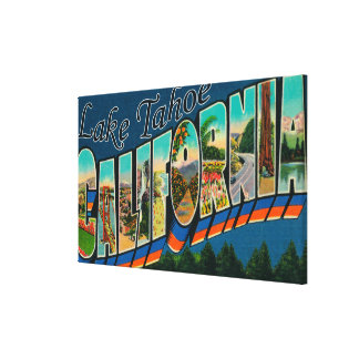 Lake Tahoe, California - Large Letter Scenes 2 Canvas Prints