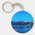 Lake Tahoe Collection Basic Round Button Key Ring