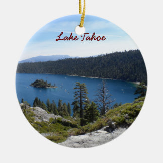 Lake Tahoe- Emerald Bay Christmas Ornament