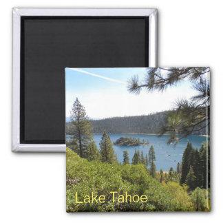 Lake Tahoe- Emerald Bay Square Magnet