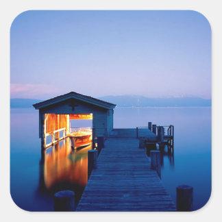 Lake Tahoe Getaway Nevada Square Sticker
