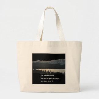 Lake Tahoe Haiku 2012 Large Tote Bag