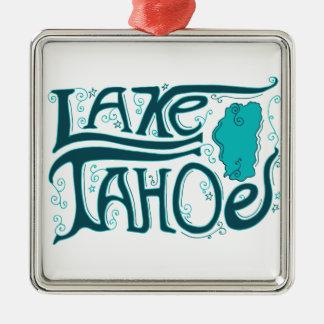 Lake Tahoe Hand Drawn Logo Christmas Ornament